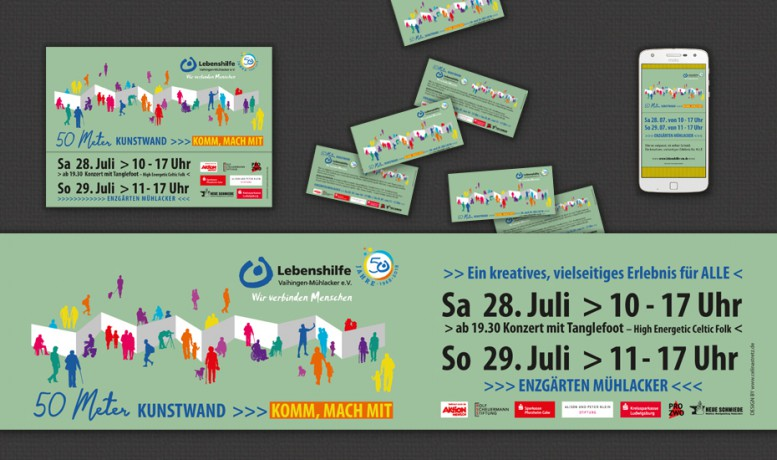 DESIGN FOR >>> Lebenshilfe Vaihingen-Mühlacker e.V. >>> Motiventwicklung, Plakate, Banner, Flyer